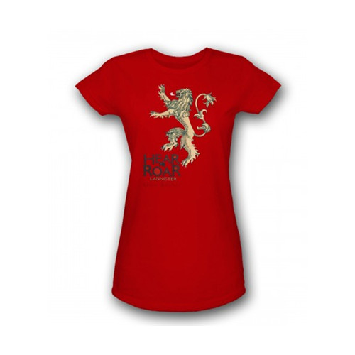 HEAR ME ROAR LANNISTER CAMISETA CHICA T-XL GAME OF THRONES