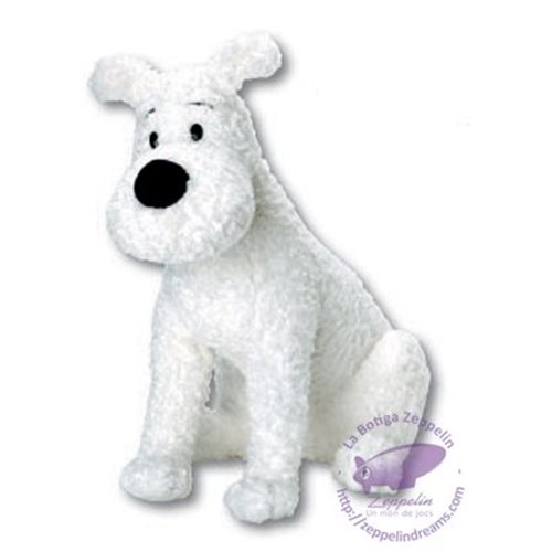 Snowy sitting plush large 40cm (Tintin)