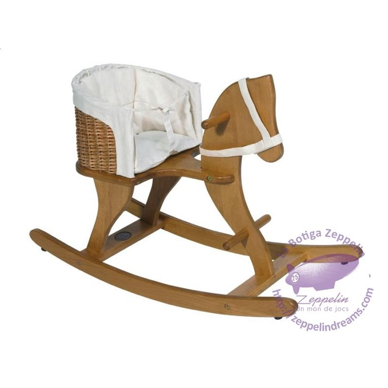 ROCKING HORSE WICKER BASKET