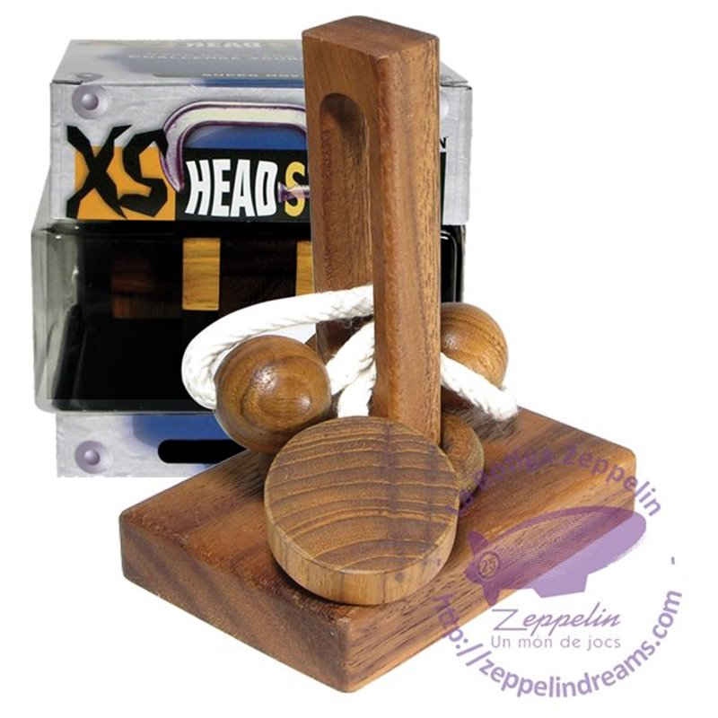 XS Headstress Wooden Puzzle Wring IQ level 2