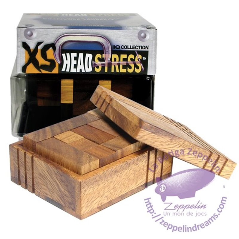 XS Headstress Casket Wooden Puzzle IQ level 2