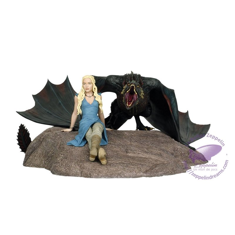 Daenerys and Drogon Resin Statue Limited Edition 35x45cms Game Of Thrones