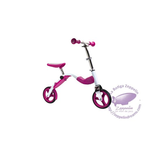 Scoobik pink scooter and bike 2-in-1