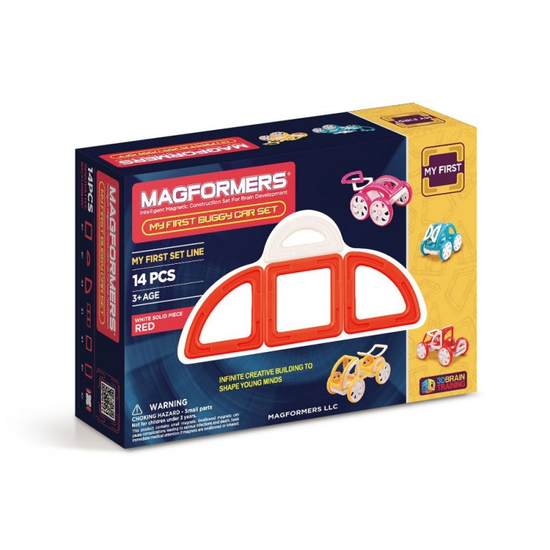 MY FIRST BUGGY CAR SET RED 14 PCS - MAGFORMERS