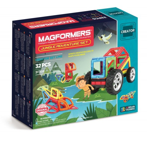 JUNGLE ADVENTURE SET 32 PZAS - MAGFORMERS