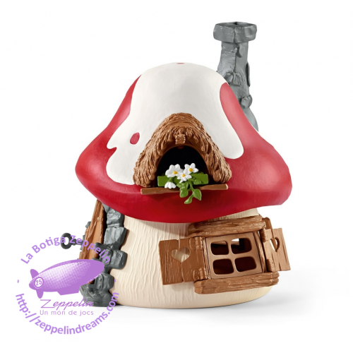 SMURF HOUSE WITH PAPA AND GARGAMEL