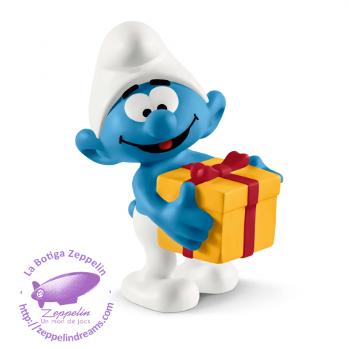 SMURF WITH PRESENT