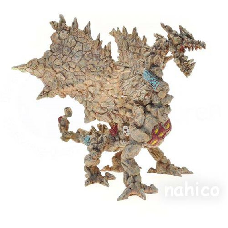 STONE DRAGON WITH ARTICULATED JAW