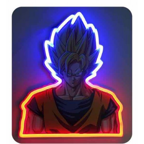 GOKU MURAL NEON 30cm.(Dragon Ball z)