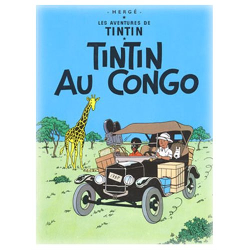 POSTER TINTIN IN THE CONGO