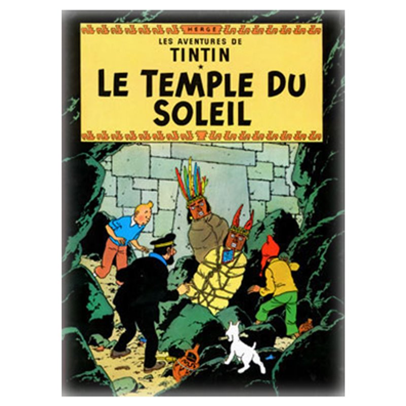 POSTER TINTIN PRISONERS OF THE SUN