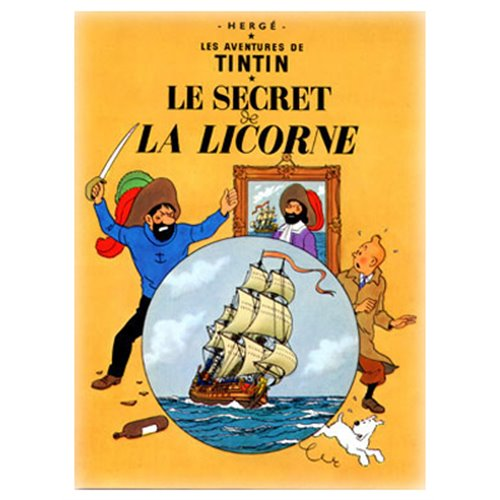 POSTER TINTIN THE SECRET OF THE UNICORN