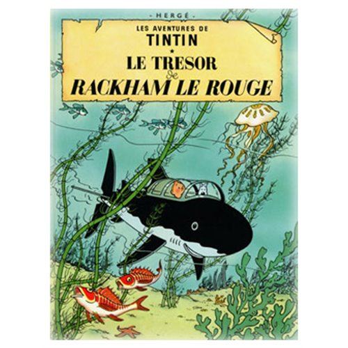 POSTER TINTIN RED RACKHAM'S TREASURE