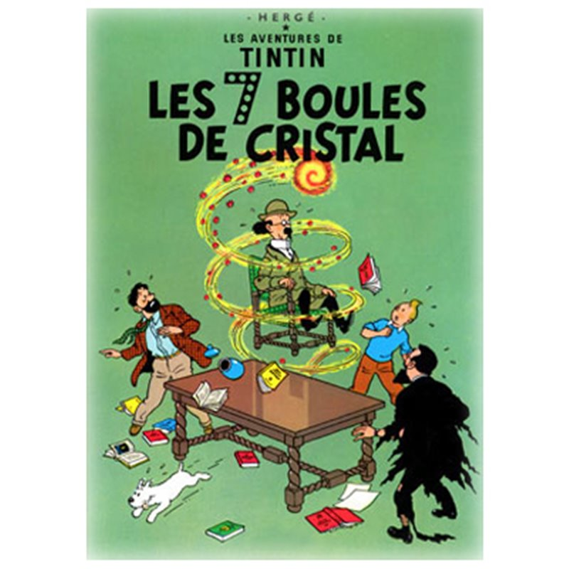 POSTER TINTIN THE SEVEN CRYSTAL BALLS