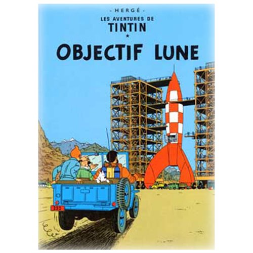 POSTER TINTIN DESTINATION MOON