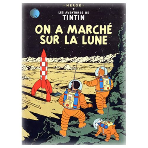 POSTER TINTIN EXPLORERS ON THE MOON