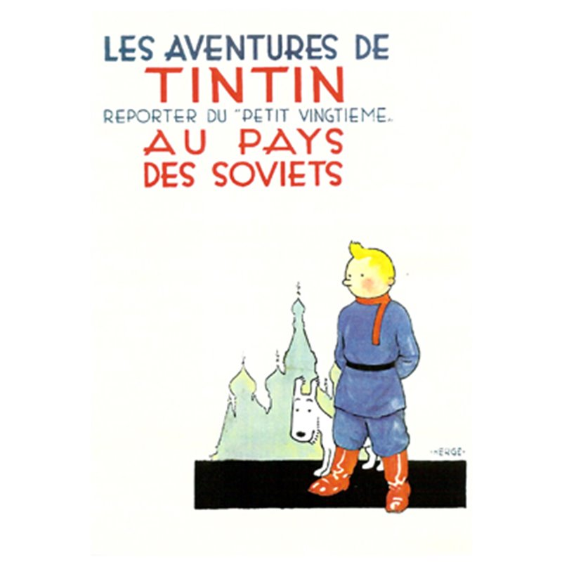 POSTER TINTIN IN THE LAND OF THE SOVIETS