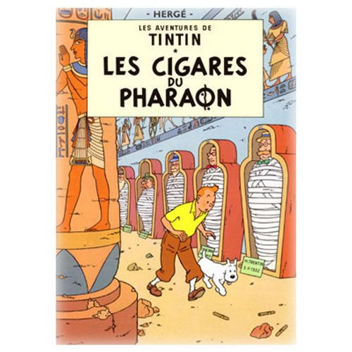 POSTER TINTIN CIGARS OF THE PHARAOH
